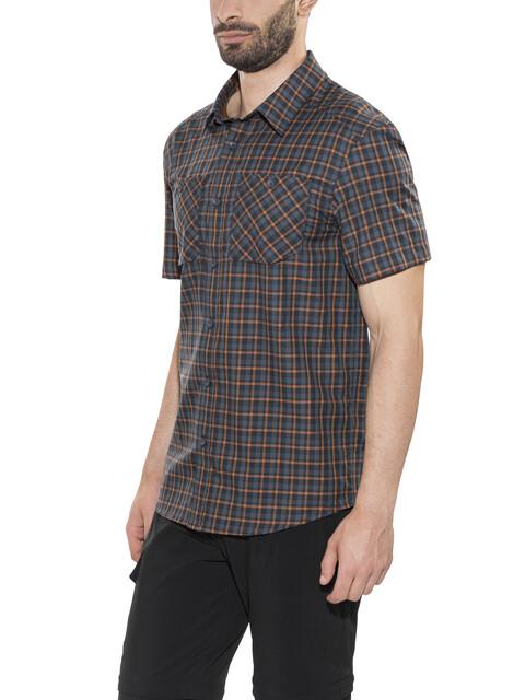 Arc'teryx Tranzat - Camiseta manga corta Hombre - gris/naranja